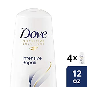 Dove Nutritive Solutions for Dry Hair, Intensive Repair, Deep Conditioner, 12 Fl Oz (Pack of 4)