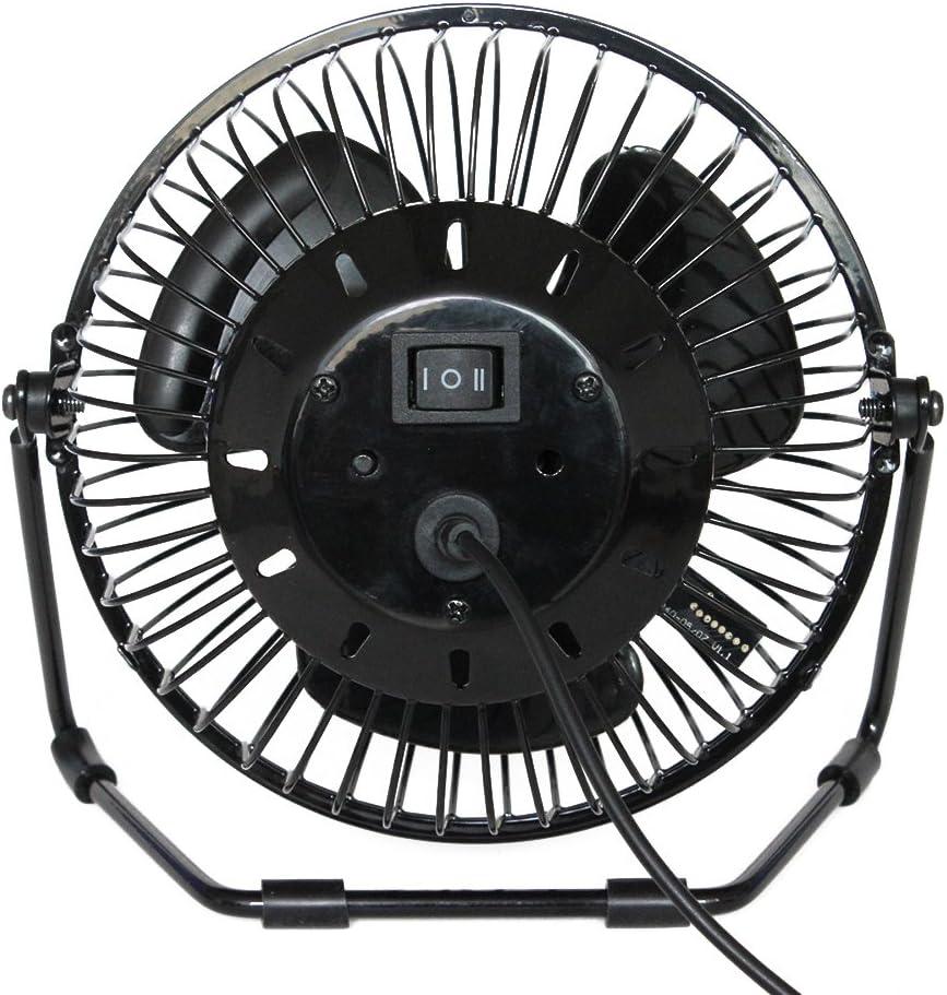 LEDMOMO Mini Desktop USB LED Clock Cooling Fan Portable Realtime Calendar Temperature Display Fan for Home Office