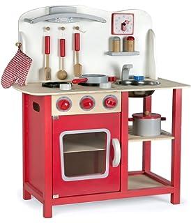 WOOMAX - Cocina de madera con accesorios, luz y sonido ...