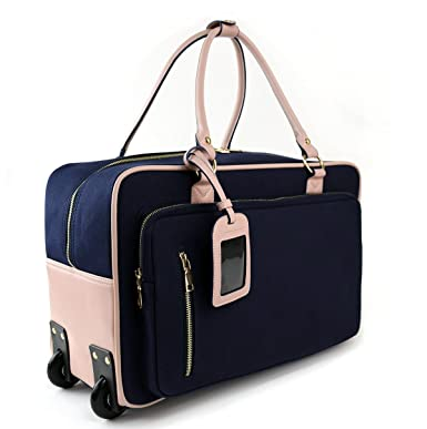 Amazon.com | Womens Travel Duffel Overnight Carry On Weekend Bag w ...
