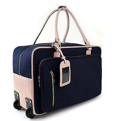 Amazon.com | Womens Travel Duffel Overnight Carry On Weekend Bag w ...