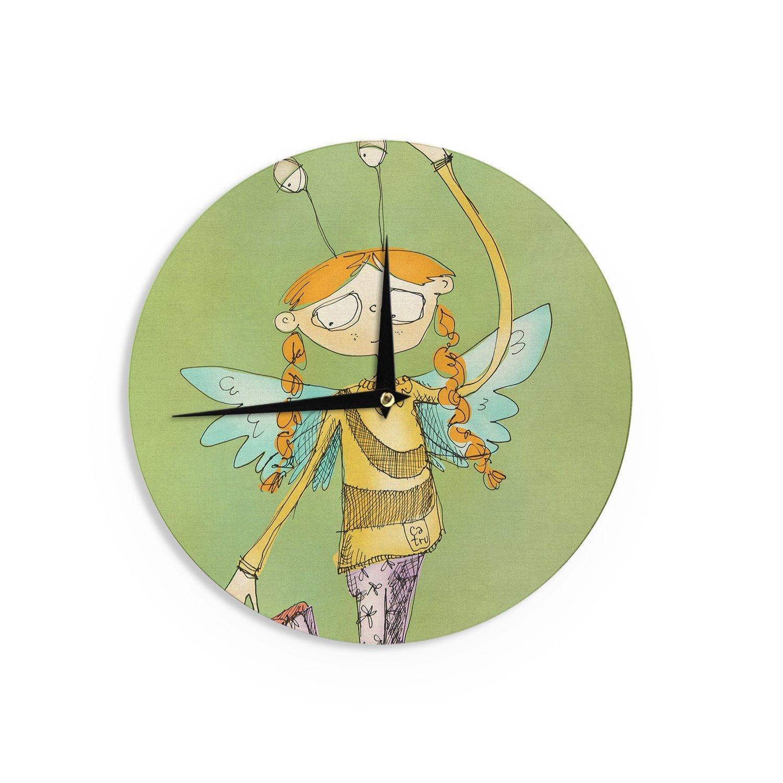 Kess InHouse Carina Povarchik Urban Fairy Girl Green Kids 12 Diameter