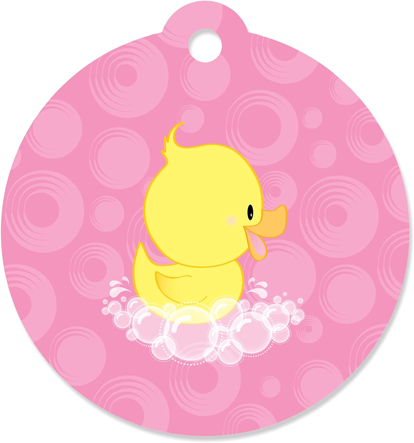Party Favor Tags Large Tags Baby Shower Tags Baby Girl With Ducky Toy Personalized Tags Baby Shower Favor Tags 25 Baby Girl
