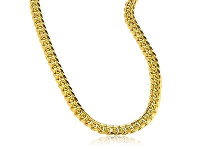 JOTW 10K Gold Necklace 6mm Miami Cuban Hollow Chain - 24