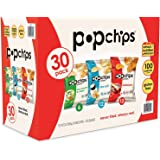 Popchips Potato Chips 3 Flavor Variety Pack Single Serve 0.8 oz Bags