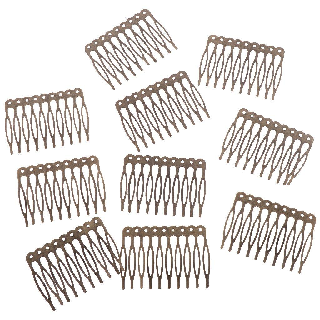 2.7cm 5 Teeth Gold D DOLITY 10 Pieces Women/'s Gold Silver Bronze Plain Metal 5 Teeth 10 Teeth Hair Combs Craft Creative Costume Supplies DIY