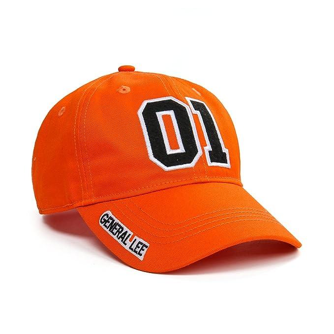 Nofonda Arancione Berretto da Baseball Cappellino Ricamato Numero 01  General Lee per Donna Uomo Chiusura Regolabile 9027232cf7b7