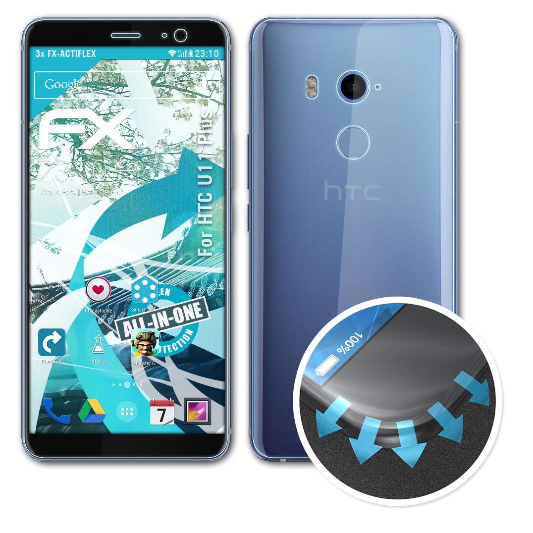 atFoliX Película Protectora Apto para HTC U11 Plus Protector ...