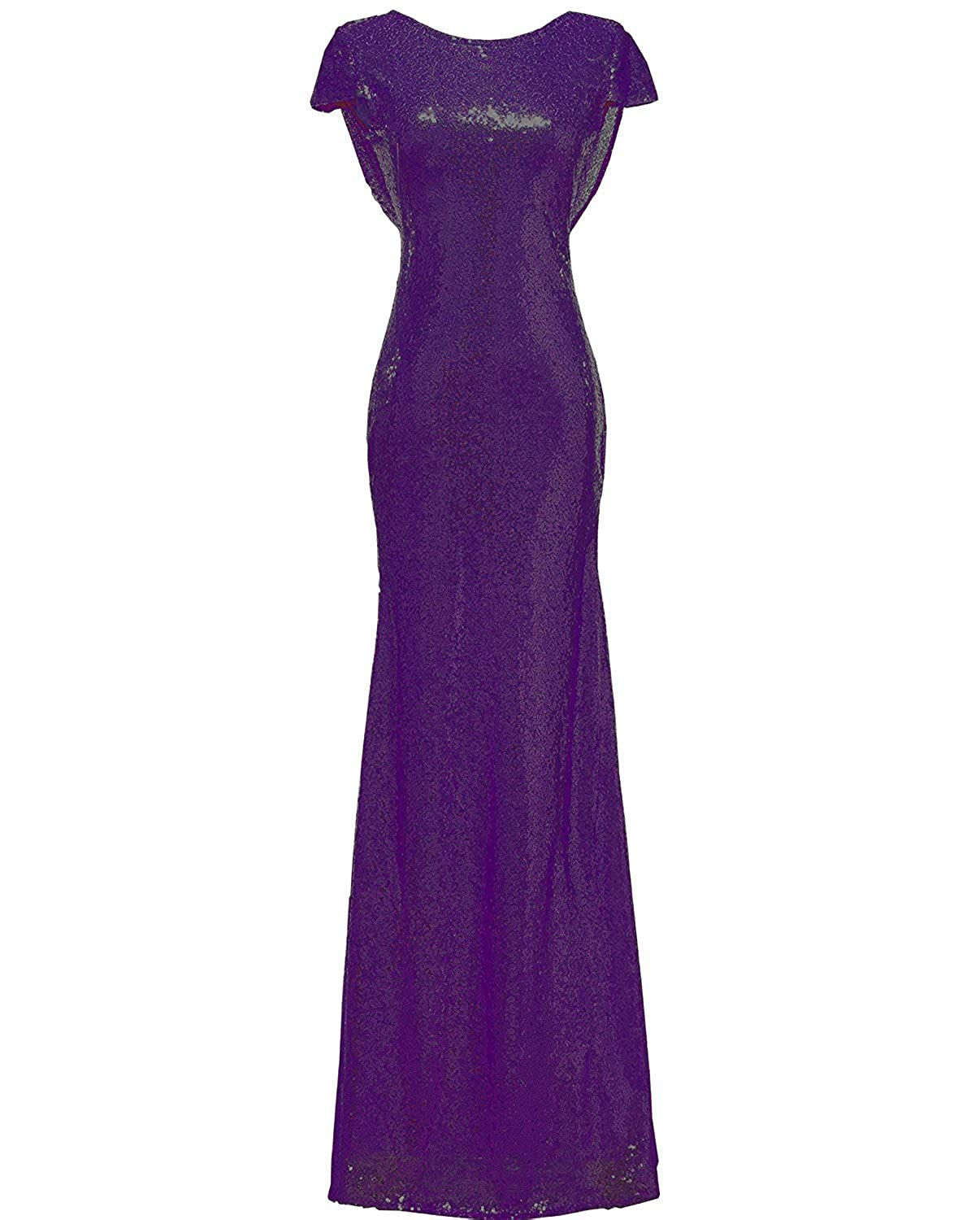 Solovedress Womens Mermaid Sequined Long Evening Dress Formal Prom Sequin Bridesmaid Dresses