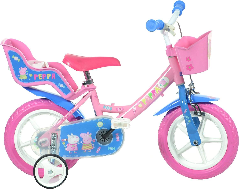 Dino Bikes 124RL-PIG Peppa Pig Buscando a Dory, Bicicleta para niños, Color Rosa
