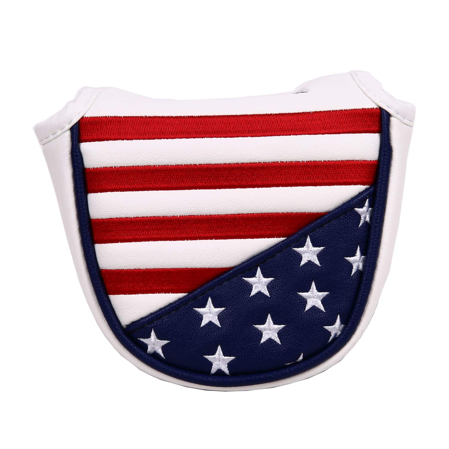 USA Stars and Stripes Magnetic Closure Golf Mallet Putter Head Cover for Odyssey Scotty Cameron Golf Builder by Sword &Shield sports