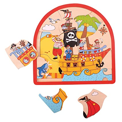 Bigjigs Toys Pirate Multi Layer/3 Layers Puzzle