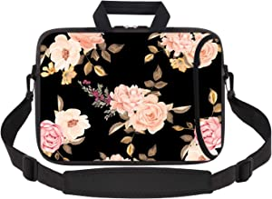 iCasso Laptop Sleeve 11.6-12.1 Inch Stylish Soft Neoprene Sleeve Case Cover Handbag for MacBook Air 11,MacBook Retina 12 Inch/iPad Pro/Ultrabook Netbook Tablet (Peony)