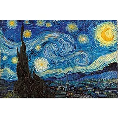 Toysdone 1000 Piece MINI Puzzles for Adults Starry Night by Vincent Van Gogh Jigsaw Puzzle Size:38x26cm( NO BOX ): Toys & Games