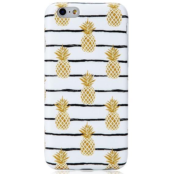 cheaper 233a2 036b4 Cute iPhone 6 Case,iPhone 6s Case, VIVIBIN Cute Pineapples for Women Girls  Clear Bumper Best Protective Soft Silicone Rubber Matte TPU Cover Slim Fit  ...
