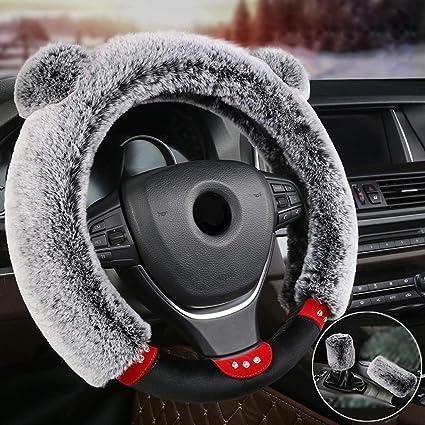 ZXHteering Wheel Cover WH Cubierta del Volante de Invierno ...