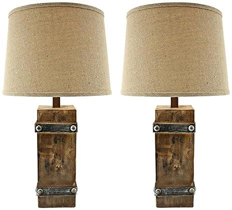 Amazon.com: Aspire Brockton II Table Lamp (Set of 2), Brown: Home ...