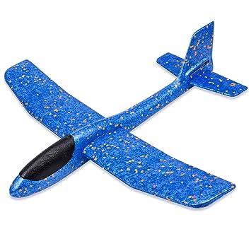 1fe1a99c1075c2 Flycreat 手投げ グライダー 飛行機 モデル 回転飛行 知育おもちゃ 指先鍛え 発泡製 軽量 ソフト