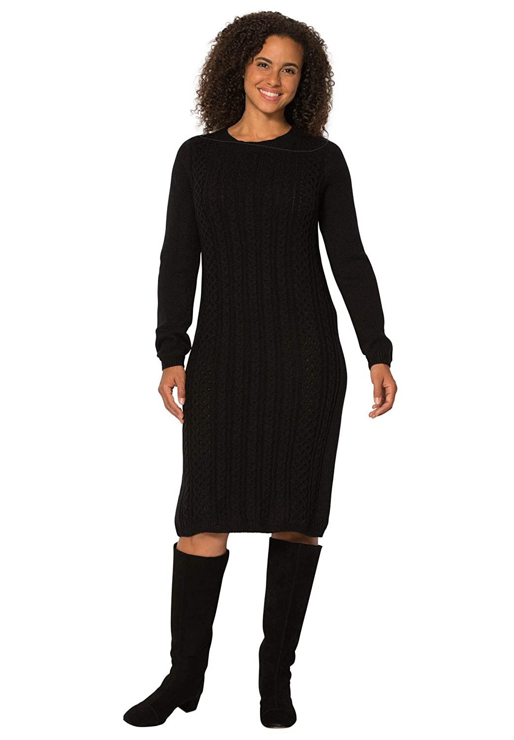 Woman Within Women\'s Plus Size Cableknit Sweater Dress
