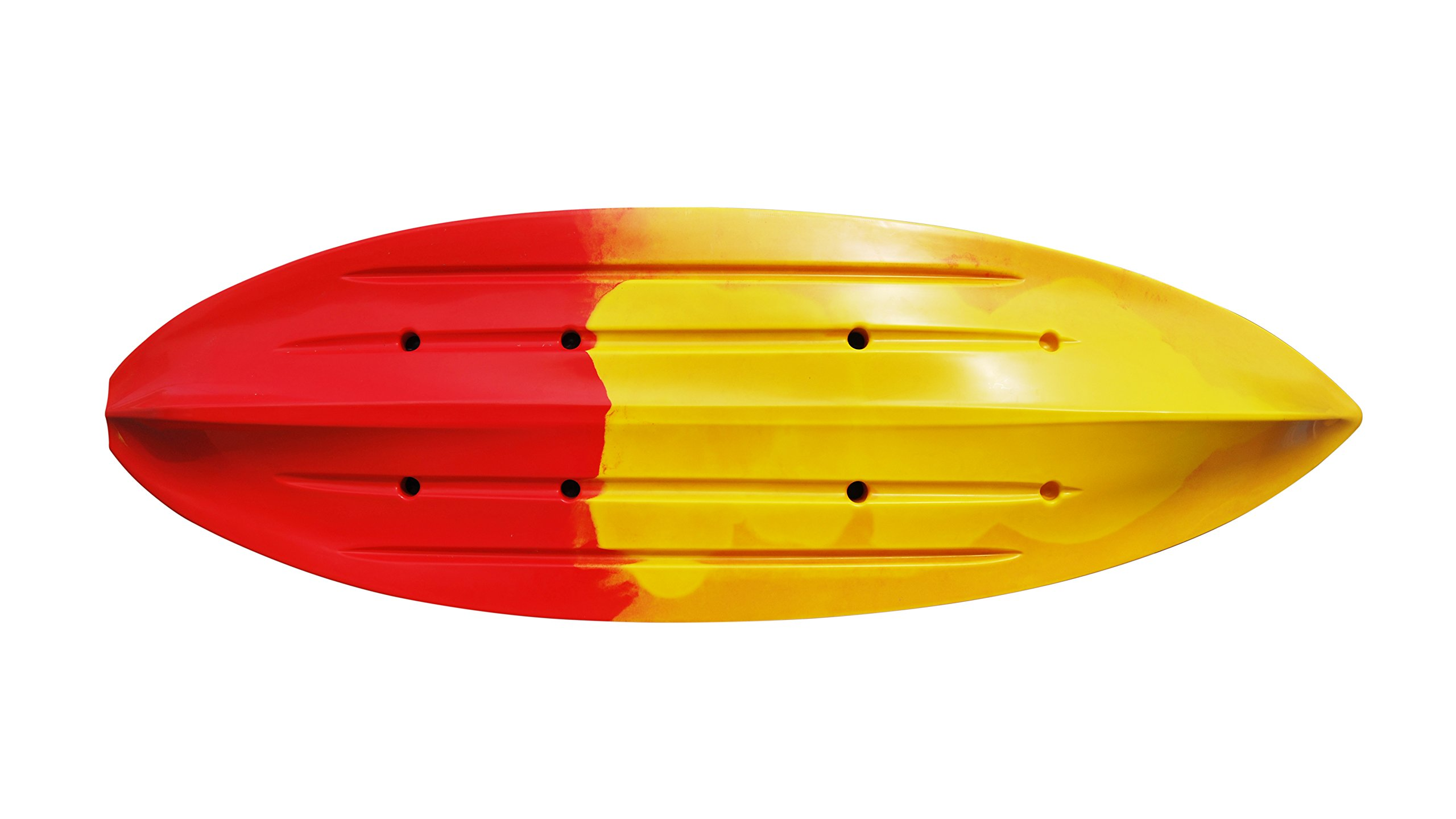 Brooklyn Kayak Company BKC UH-FK285 9.5 Foot Sit on Top Single Fishing Kayak with Upright Seat and Paddle Included RED/Yellow by Brooklyn Kayak Company