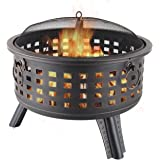 Amazon.com : Deckmate Corona Outdoor Chimenea Fireplace ... on Zeny 24 Inch Outdoor Hex Shaped Patio Fire Pit Home Garden Backyard Firepit Bowl Fireplace id=39371