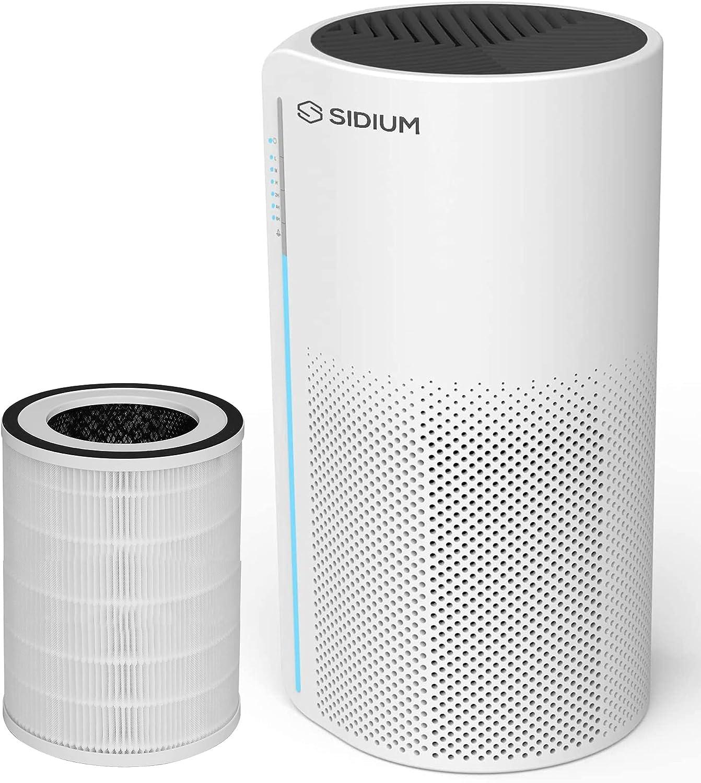 MIRO AIR - Desinfectante SIDIUM con filtro extra - HEPA13 UV esterilización purificador de aire para casa, oficina, dormitorio, 130 m3 CADR, aplicación WiFi