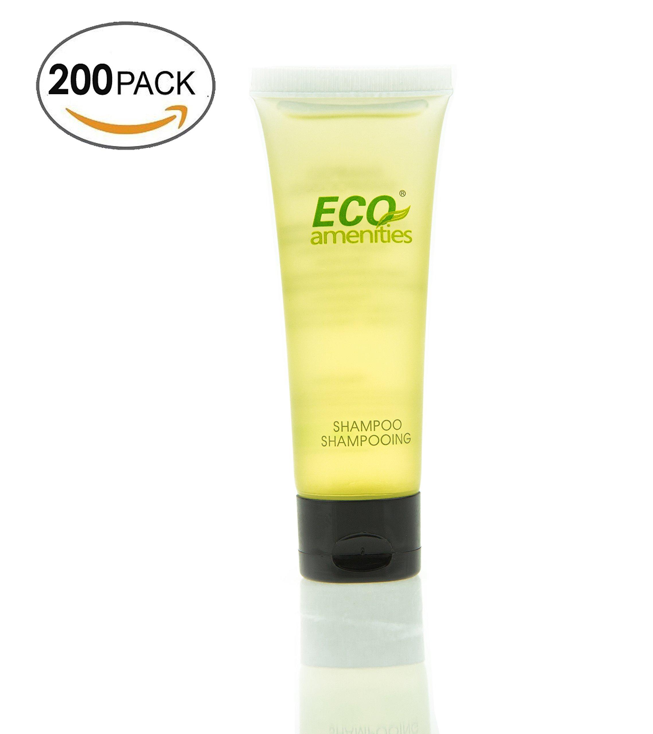 ECO Amenities Transparent Tube Flip Cap Individually Wrapped 30ml Shampoo, 200 Tubes per Case