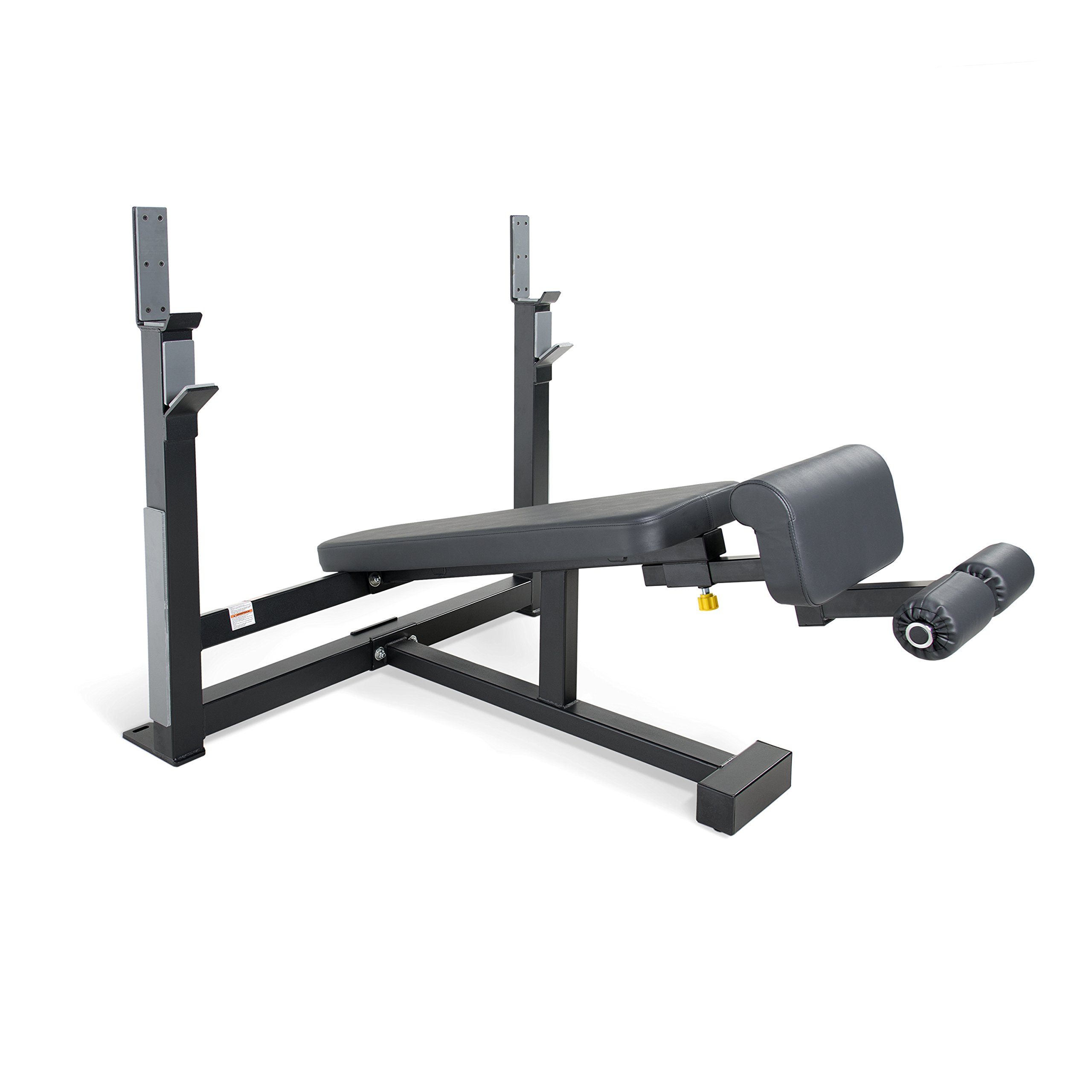WF Athletic Supply Olympic Decline Bench with Adjustable Ankle Roller - Heavy Duty Frame with 3-inch Square 11 Gauge Steel - Best Decline Bench for Gyms, Schools & Home