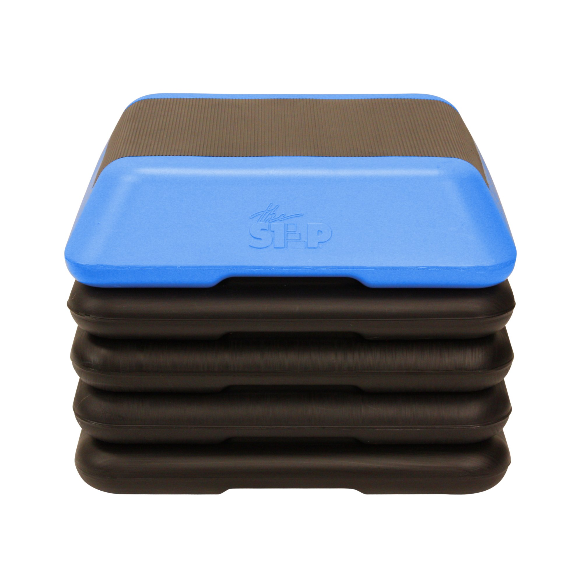 The Step High Step Aerobic Exercise Nonslip Platform Includes 4 Risers and Streaming Workout Videos