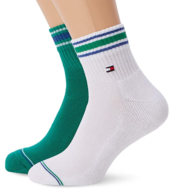 Tommy Hilfiger Herren Socken Th Men Hilfiger Quarter, 2er