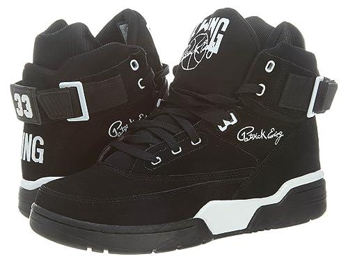 Patrick Ewing 90013 - Zapatillas de Deporte de Cuero para Hombre Negro Negro 39 5: Amazon.es: Zapatos y complementos