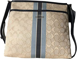 Coach Signature Zip File Crossbody Bag 5affae185efc3