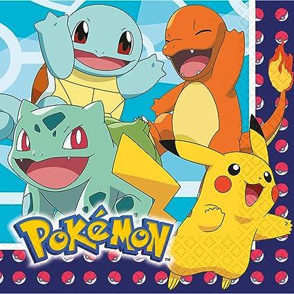 NET TOYS 16 servilletas Pokémon - 33x33cm - Linda decoración ...