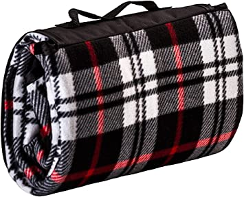 /Picnic Blanket Fleece Blanket with Carry Strap/