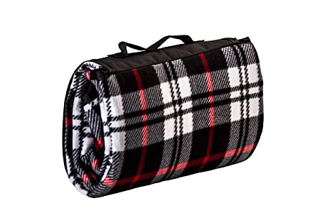 All Purpose Picnic Blanket – Soft Plush Outdoor, Beach, Travel, Camping Fleece Throw Blanket 50×60 Inches