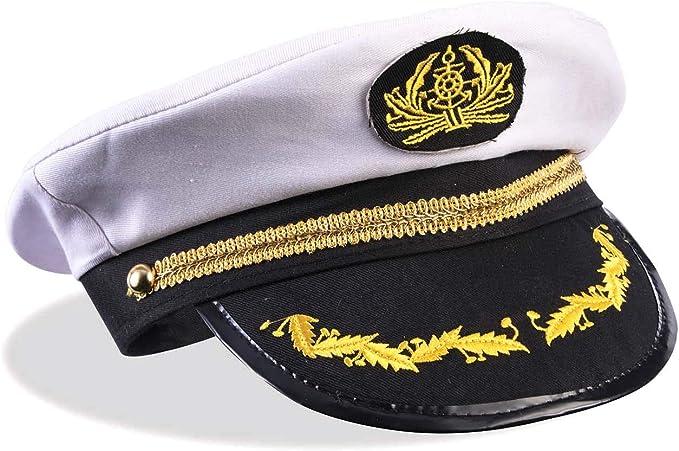 Unisex Skipper Ship Sailor Navy Yacht Military Captain Nautical Hat Cap We
