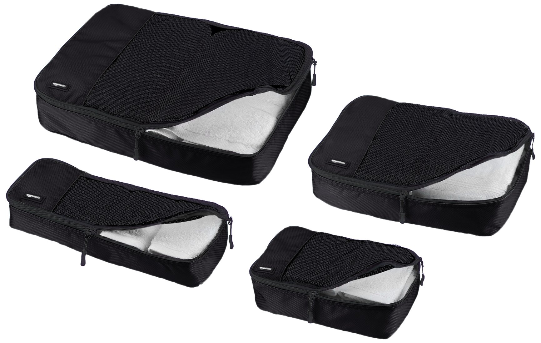 AmazonBasics 4-Piece Packing Cube Set - Small, Medium, Large, and Slim, Black by AmazonBasics (Image #3)