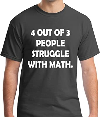 4 Out of 3 People Struggle With Math Nerd V-Neck Tees Shirts Tshirt T-Shirt