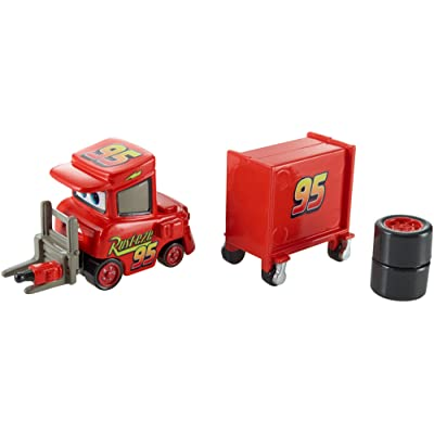 Disney/Pixar Cars, Piston Cup 2015 Series, My Name is Not Chuck with Cart Die-Cast Vehicle #17/18, 1:55 Scale: Toys & Games