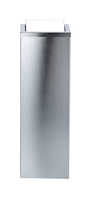 Attractive DWBA Tall Square Stainless Steel Wastebasket Trash Can W/ Swing Lid. Trash  Can Waste