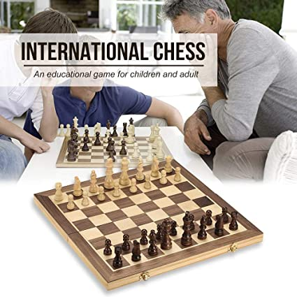 Foldable Magnetic International Chess Pieces Game Set Kids Toys Home Leisure