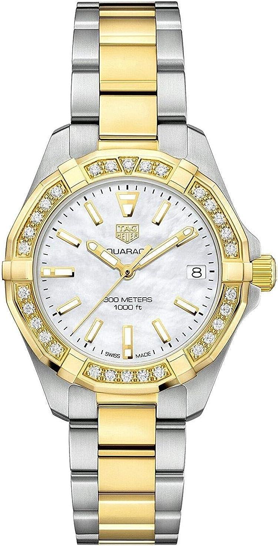 Tag Heuer Aquaracer WBD1321.BB0320 - Reloj de pulsera para mujer con esfera de nácar.