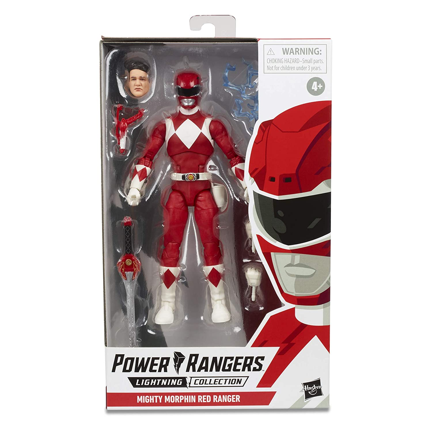 "Power Rangers E7755Lightning Collection 6"" Mighty Morphin Red Ranger Collectible Action Figure Toy with Accessories"