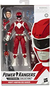 "Power Rangers - Lightning Collection - Mighty Morphin Red Ranger 6"" Collectible Action Figure - Kids Toys & Collectible Figures - Ages 4+"
