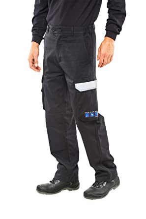 86d2437726ae Quality FIRE Retardant Anti-Static ARC Welding Flash Navy Work Trousers  PPE  Amazon.co.uk  Clothing