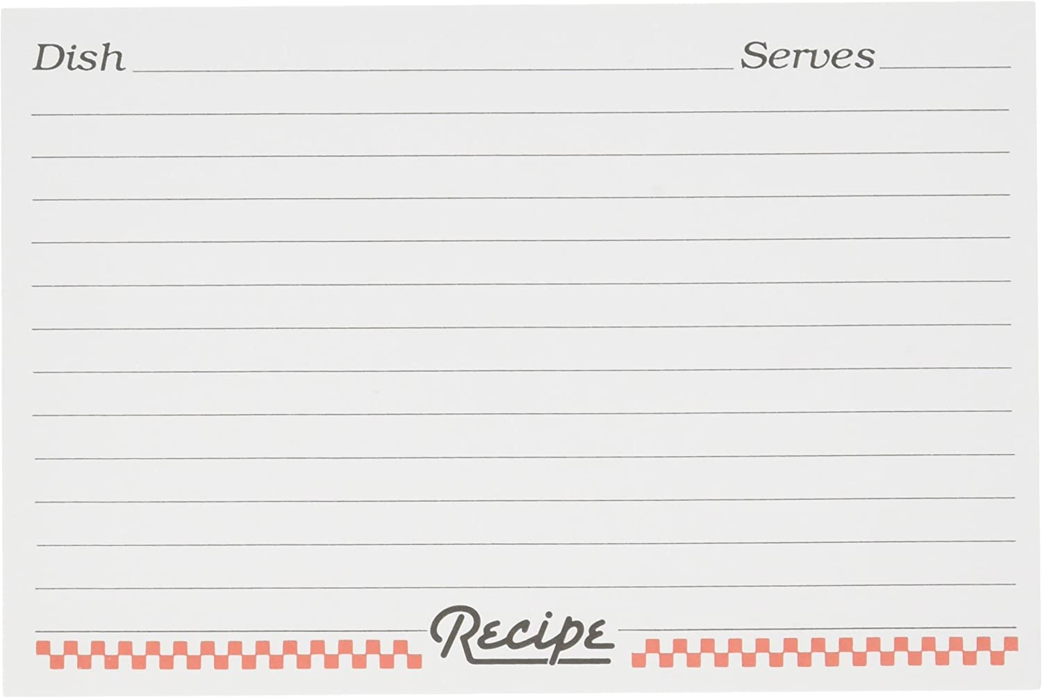 Set of 24 Weatherbee Preprinted Recipe Card Tab Dividers Set 4 by 6-Inches