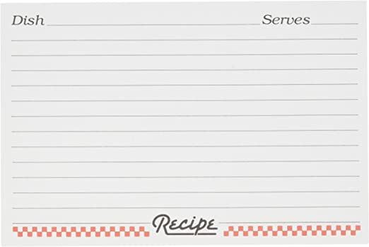 Weatherbee 4-By-6-Inch Recipe Box Dividers White