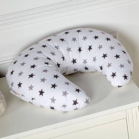 Almohada de lactancia, diseño con estrellas de color gris ...