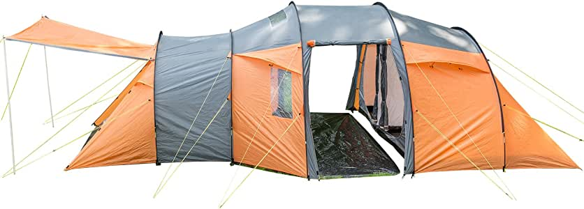 skandika - Skoppum - 8 Personas - Tienda campaña Familiar - túnel - 3X entradas/dormitorios: Amazon.es: Deportes y aire libre
