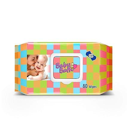 Om Skincare Baby Wipes with Aloe Vera   80 Piece  White